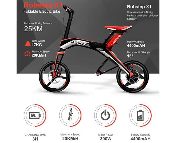 ROBSTEP X1 Foldable Electric Bike | Robstep Electric Vehicles | PET