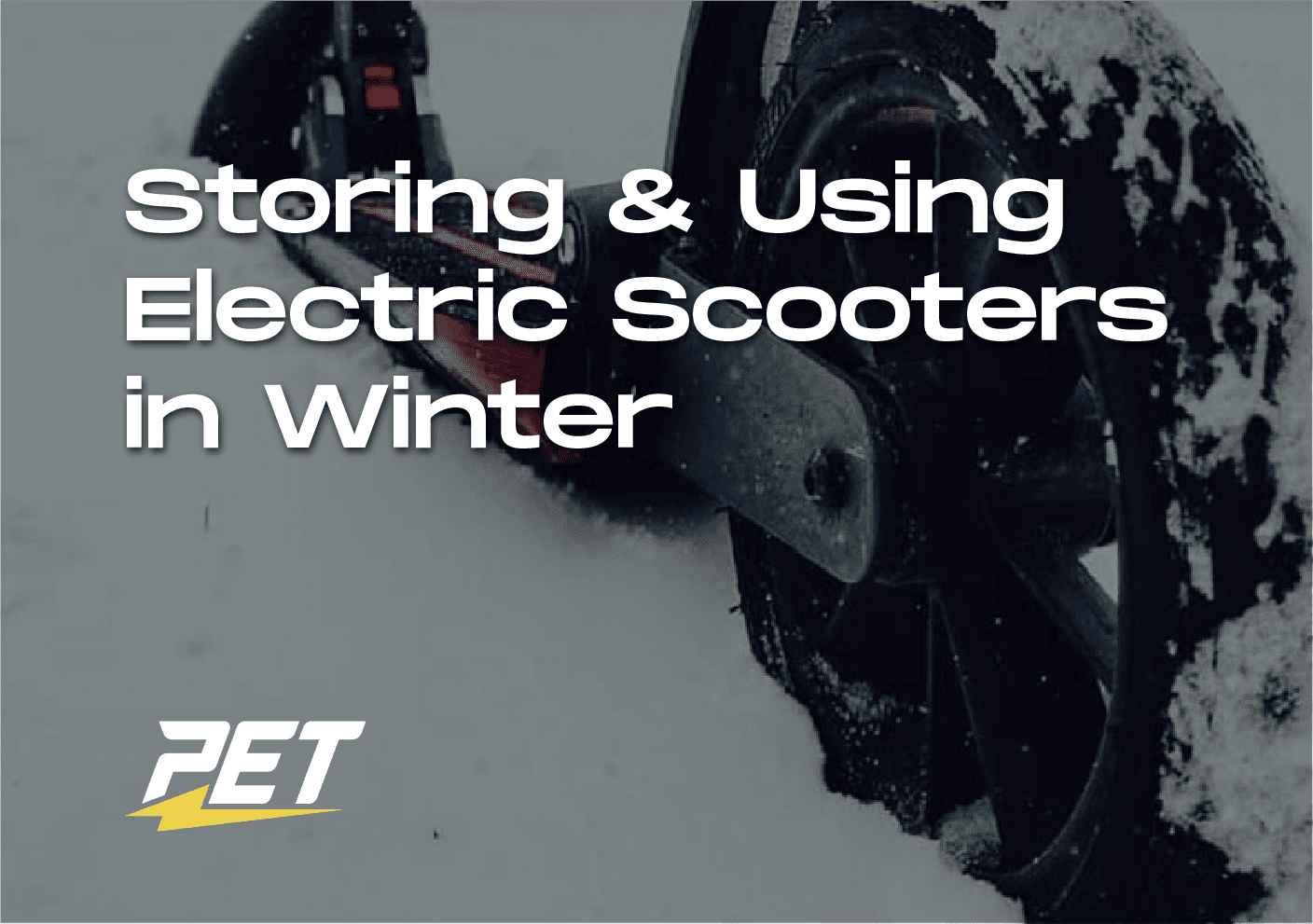 Storing and Using Electric Scooters in Winter