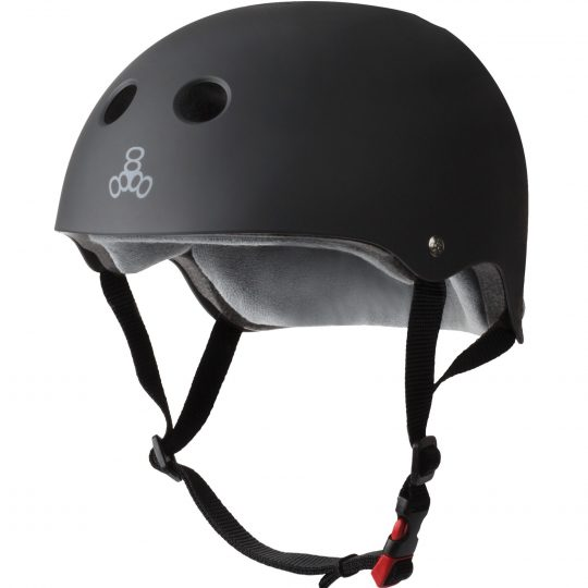 Triple_8_Sweatsaver_Helmet_Rubber_Black_Electric-Scooter-Accessories-London-Personal-Electric-Transport-London-UK-1
