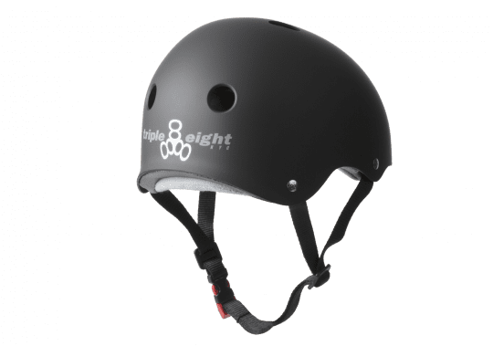 Triple_8_Sweatsaver_Helmet_Rubber_Black_Electric-Scooter-Accessories-London-Personal-Electric-Transport-London-UK
