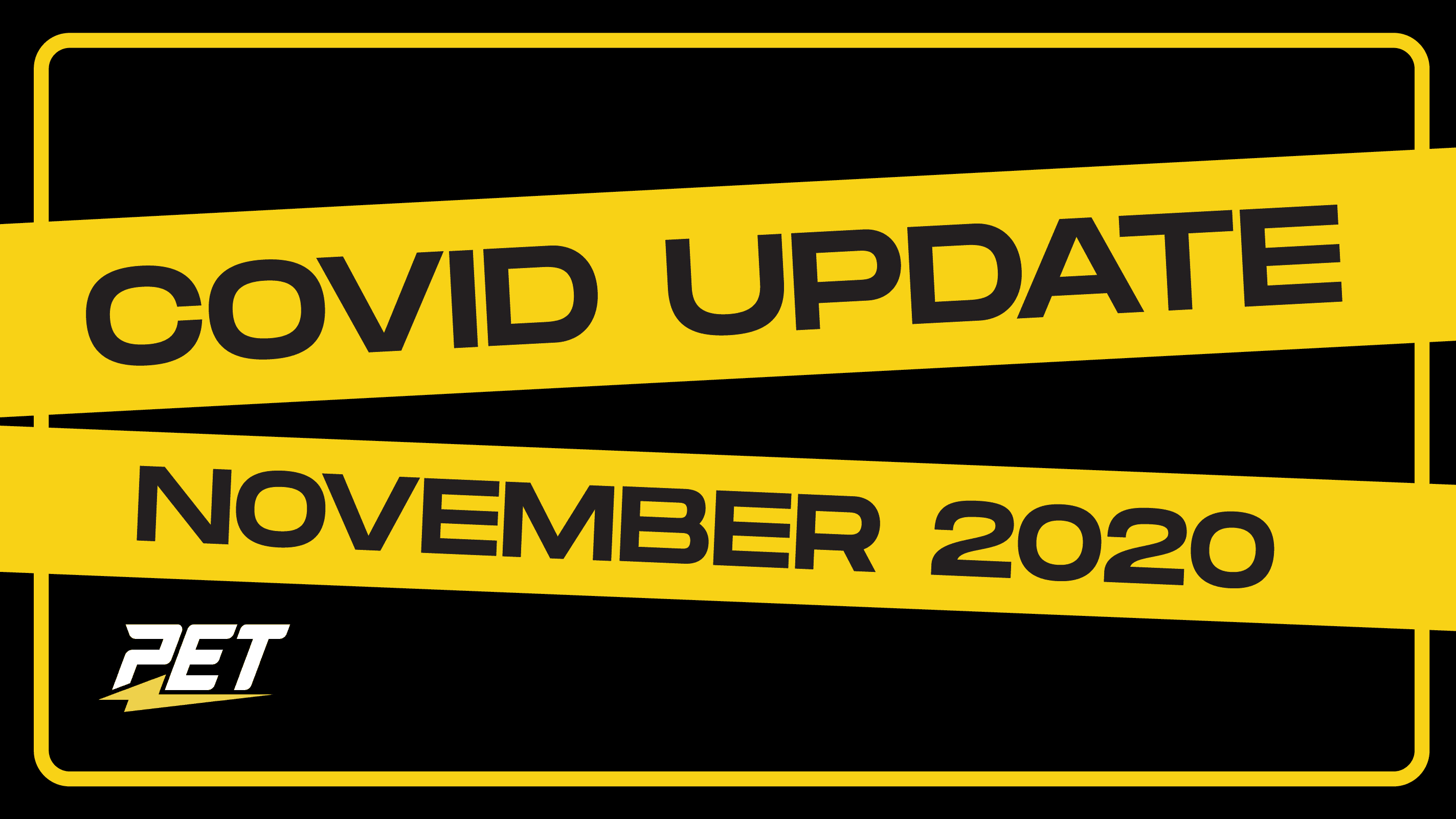 Covid Update November 2020 Personal Electric Transport