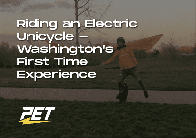 Riding An electric unicycle for the first time